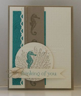 By the Tide Sea Horse Card Front
