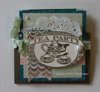 Tea Party Tea Bag Holder