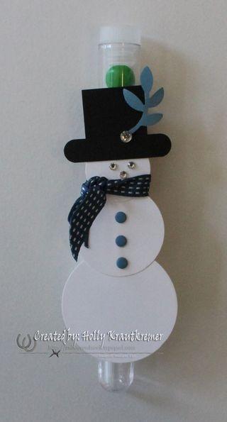 Test Tube Snowman