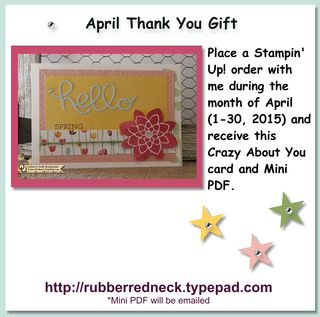 April Customer Thank You