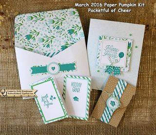 March Paper Pumpkin Projects