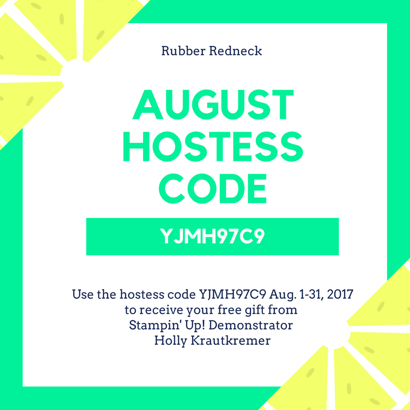 August Hostess Code
