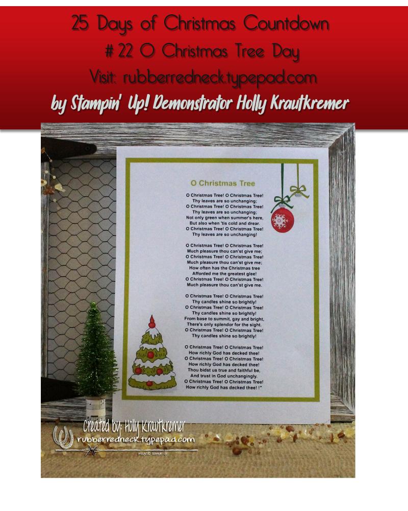 #22 O Christmas Tree