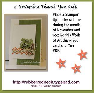 November Thank You