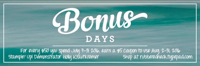 Bonus Day Header