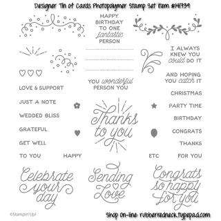 Designer Tin of Cards