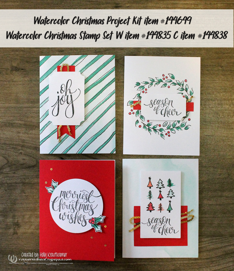 Watercolor Christmas Cards 1