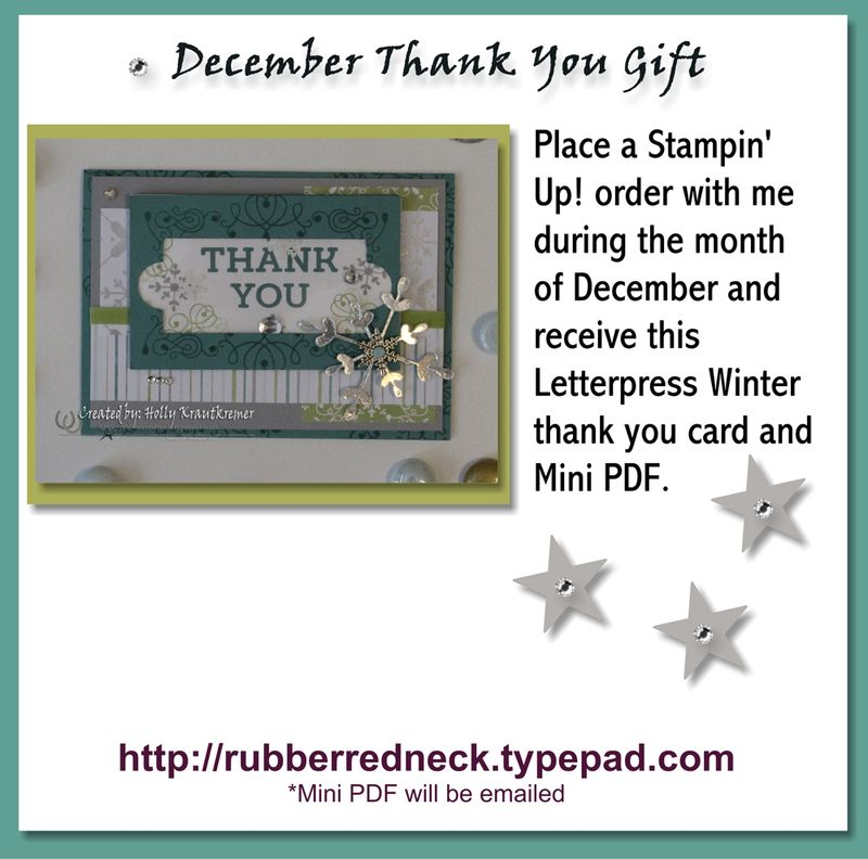 December Thank You