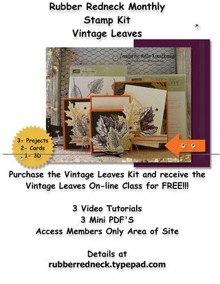 Monthly Kit Flyer Vintage Leaves