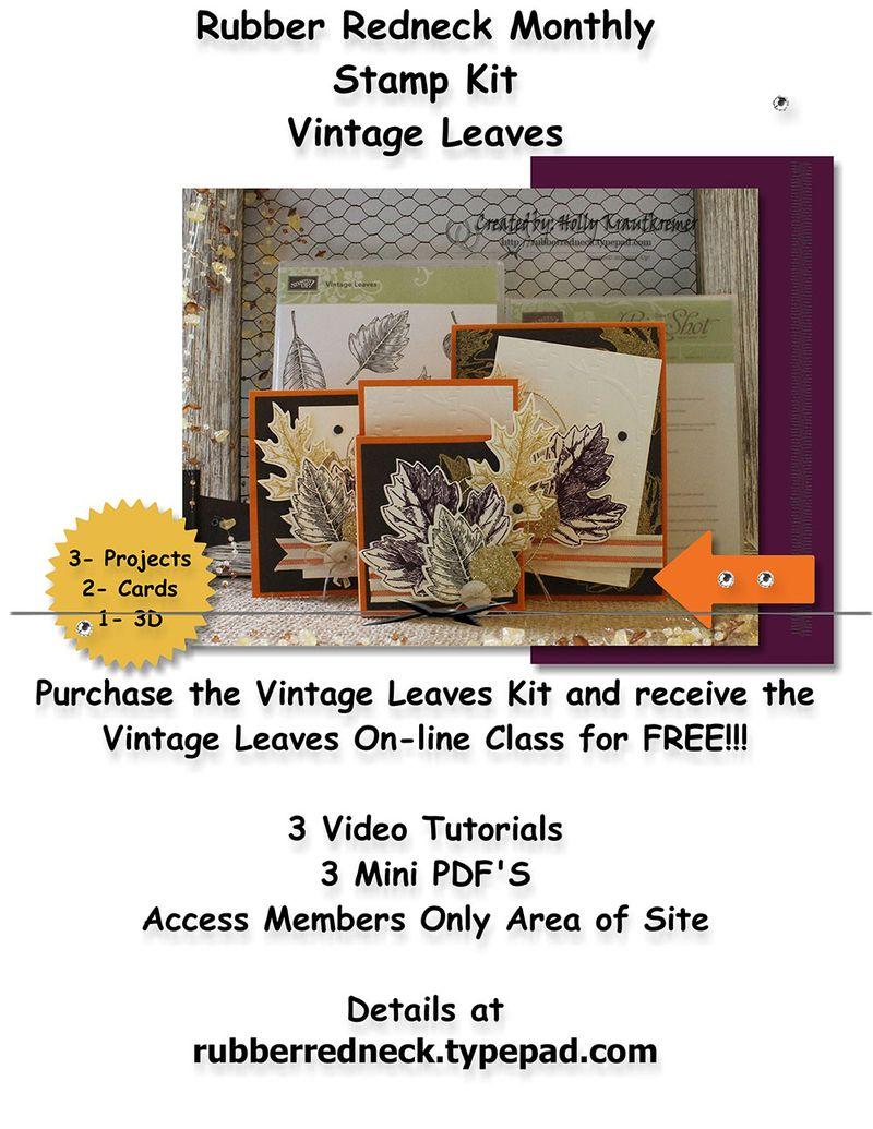 Monthly Kit Flyer Vintage Leaves