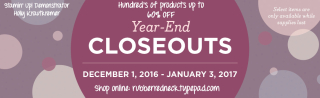 Year End Closeout Banner