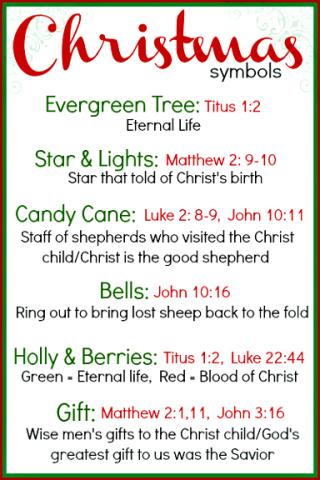 Christmas Symbols 4x6