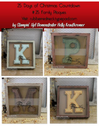 #25 Family Plaques