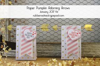 Paper Pumpkin Adorning Arrows