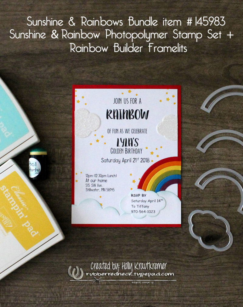 Rainbow & Sunshine Invite