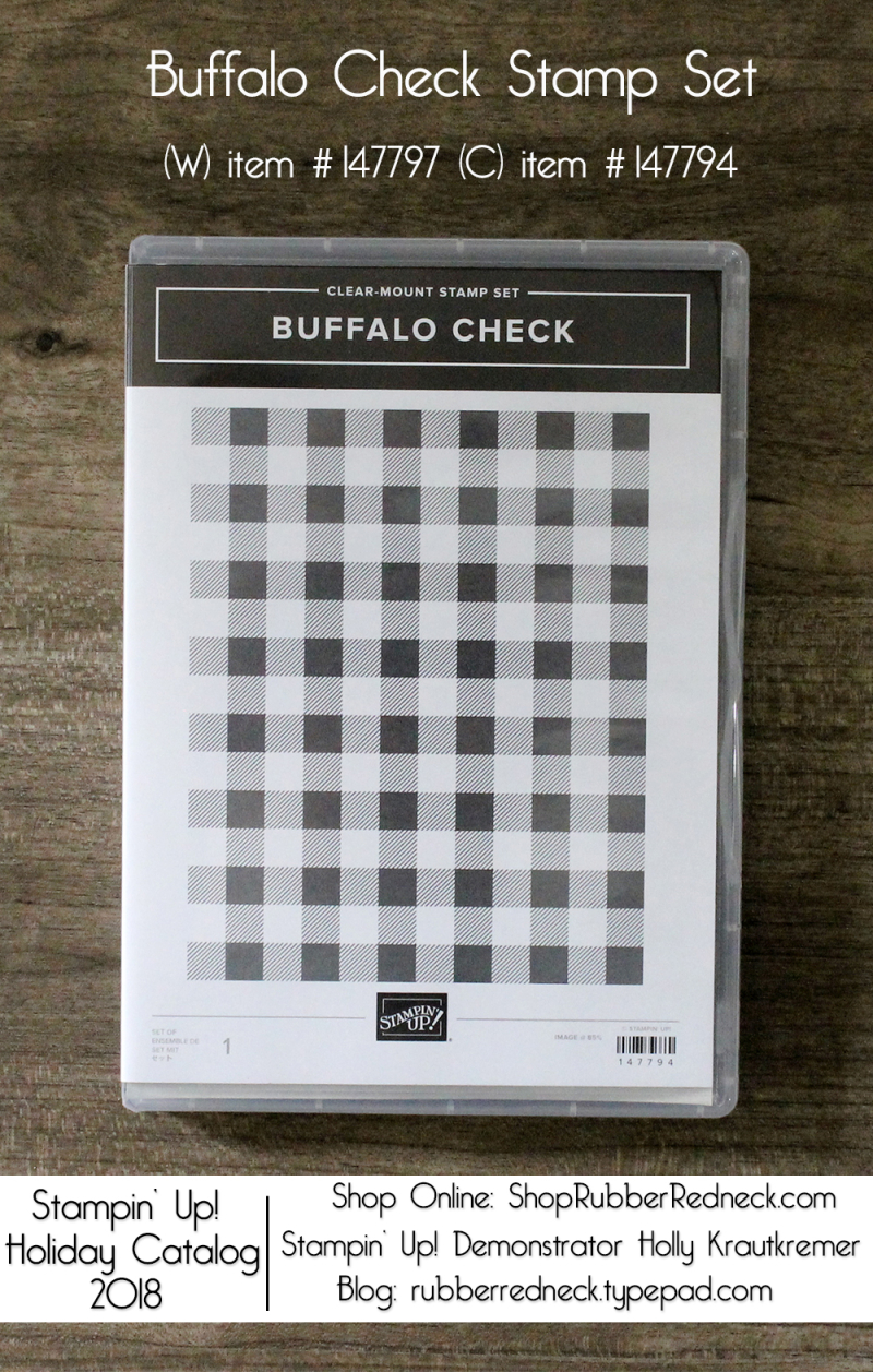 Buffalo Check Background Stamp