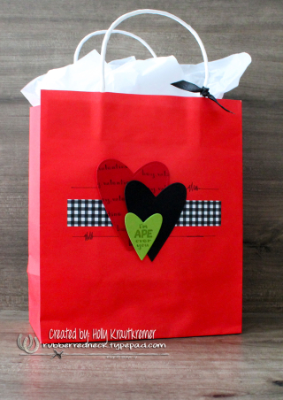 Hey Love Gift Bag Granny Apple Green