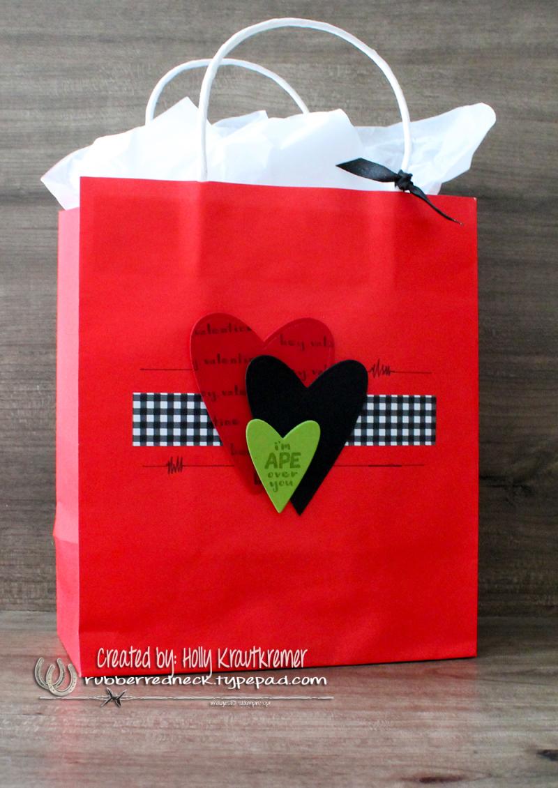 Hey Love Gift Bag Granny Apple Green