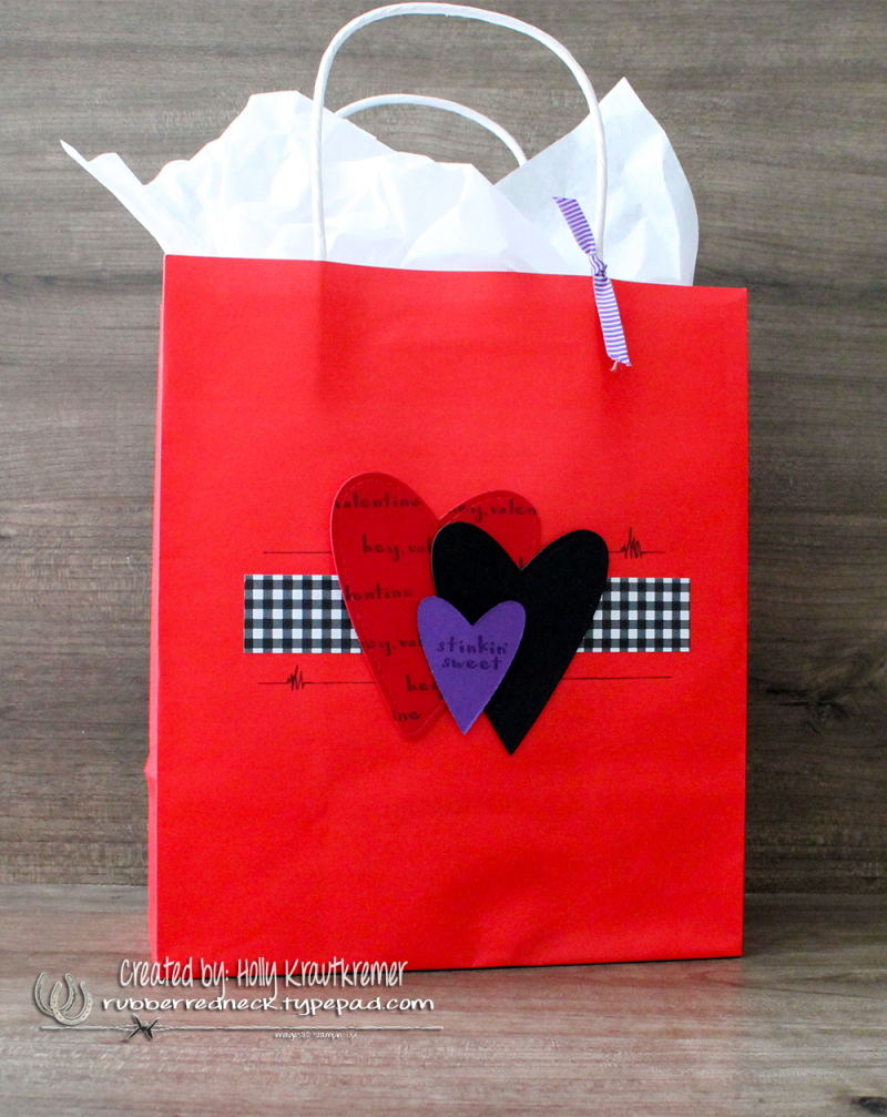 Hey Love Gift Bag Gorgeous Grape