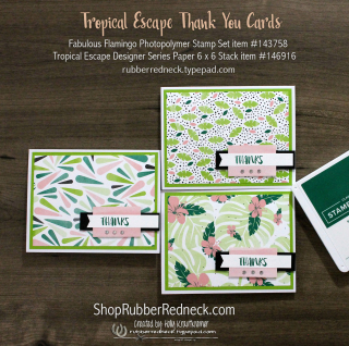 Tropical Escape Thank You Cards