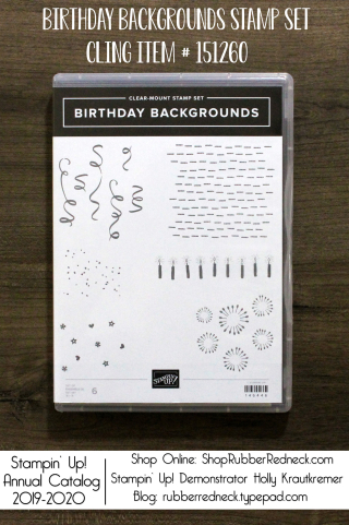 Birthday Backgrounds Stamp Set