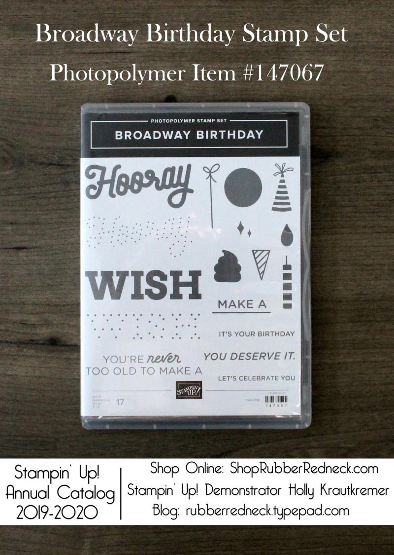 Broadway Birthday Stamp Set
